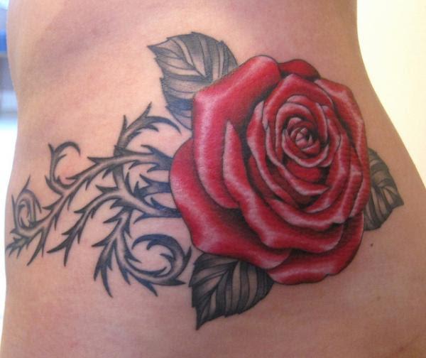 Barb Thorn Rose Tattoos