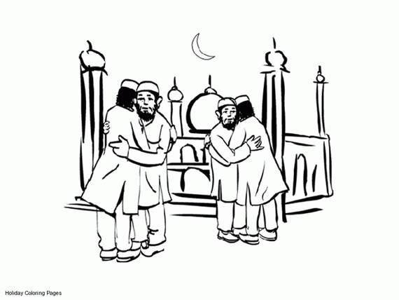 Eid Coloring Page For Kids - family holiday.net/guide to
