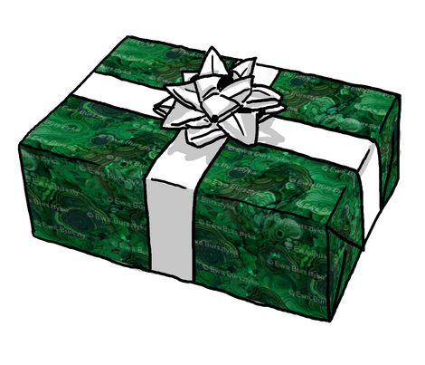 Malachite wrapping paper