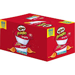 Pringles Potato Chips, Original, 0.67 oz, 60-count