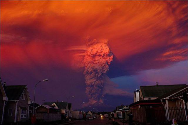 Εκπληκτική Εικόνες από την έκρηξη του ηφαιστείου στη Χιλή και τις συνέπειές του
