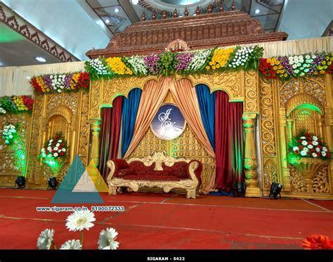 Wedding Stage Decoration @ Jayaram Thirumana Nilayam