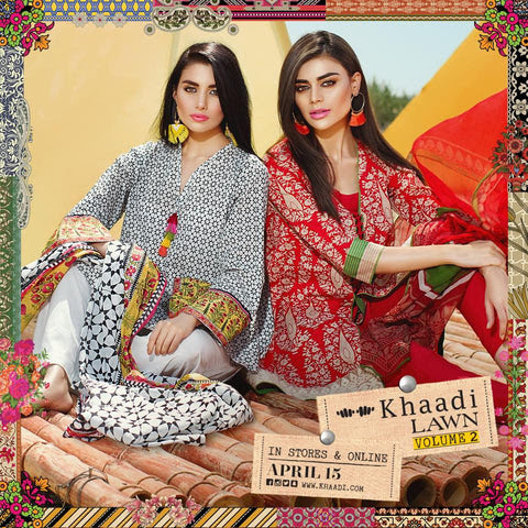 Khaadi Lawn Collection Vol-2 – Pakistani Lawn Suits