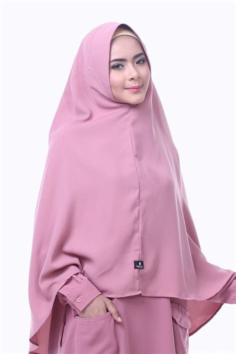 khimar raisa dusty pink hijab alsa khimar kerudung