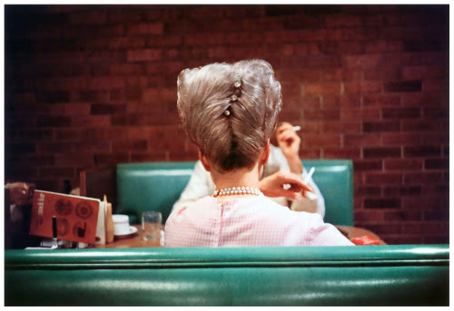the60sbazaar:American diner image by William Eggleston
