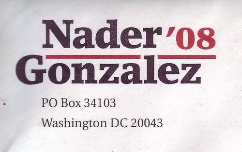 Nader - Gonzalez '08