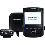 Rexing - V1PG Car Dash Cam with Rear Camera and GPS Logger - Black