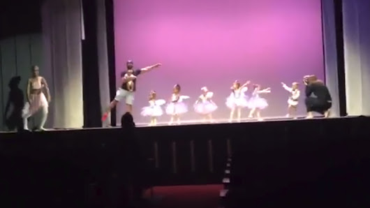 Loving Father Runs on Stage to Dance With His Ballerina Daughter Suffering From Stage Fright