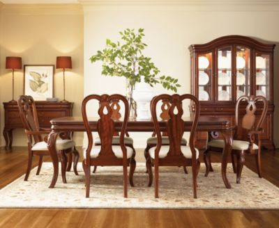 Bordeaux Louis Philippe-Style 9-Piece Dining Room Furniture Set ...