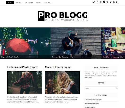 20+ Best Free WordPress Blog Themes 2018 - Dessign Themes