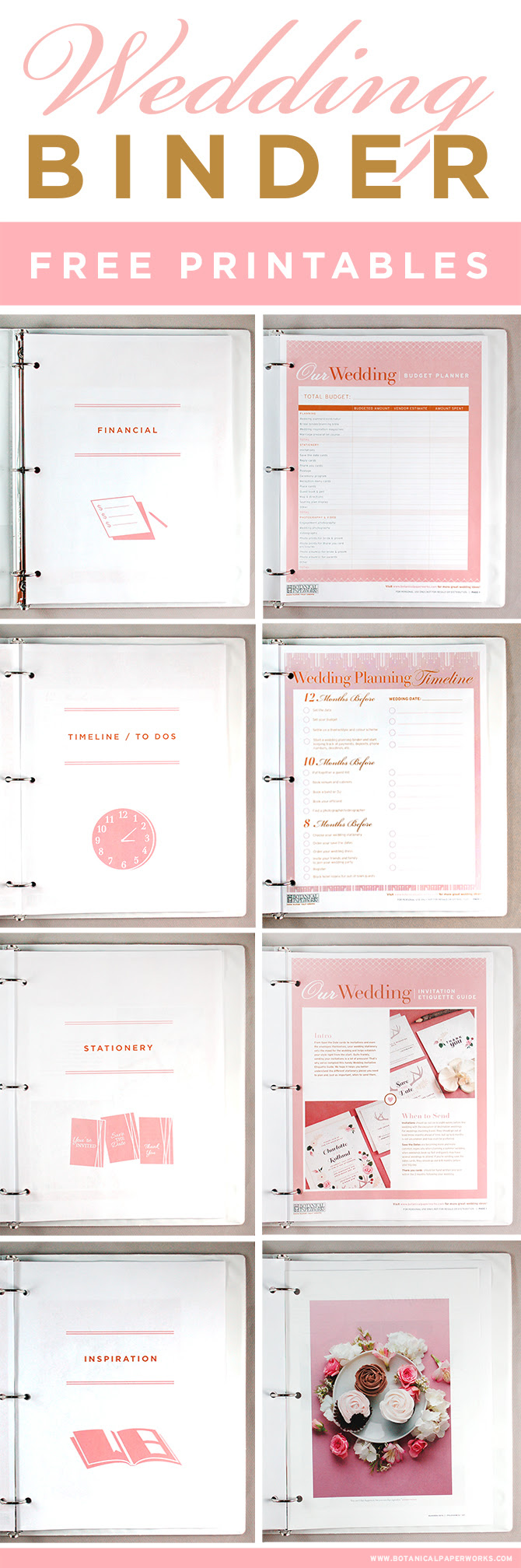 Printable Wedding Planner Book | Template Business PSD, Excel, Word, PDF