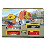 Bachmann Industries 00647 Santa Fe Flyer Ho Scale Electric Train Set