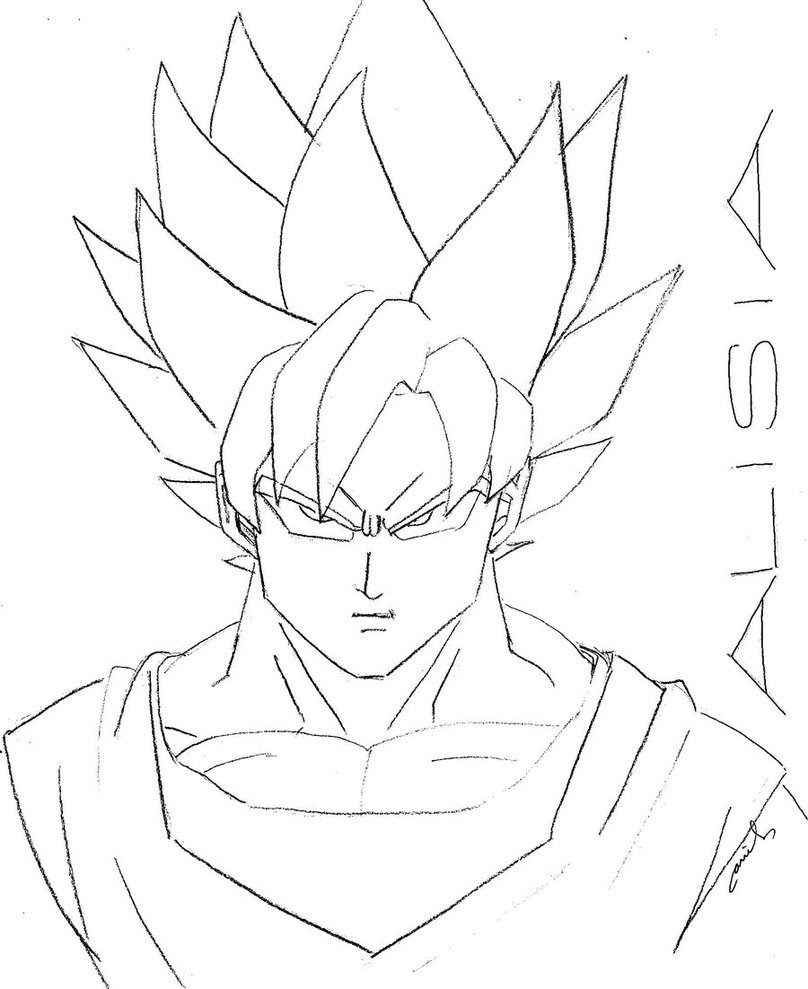 The Best Free Saiyan Drawing Images Download From 792 Free