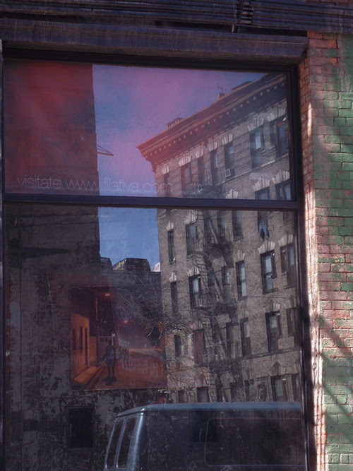 reflection on Centre Street