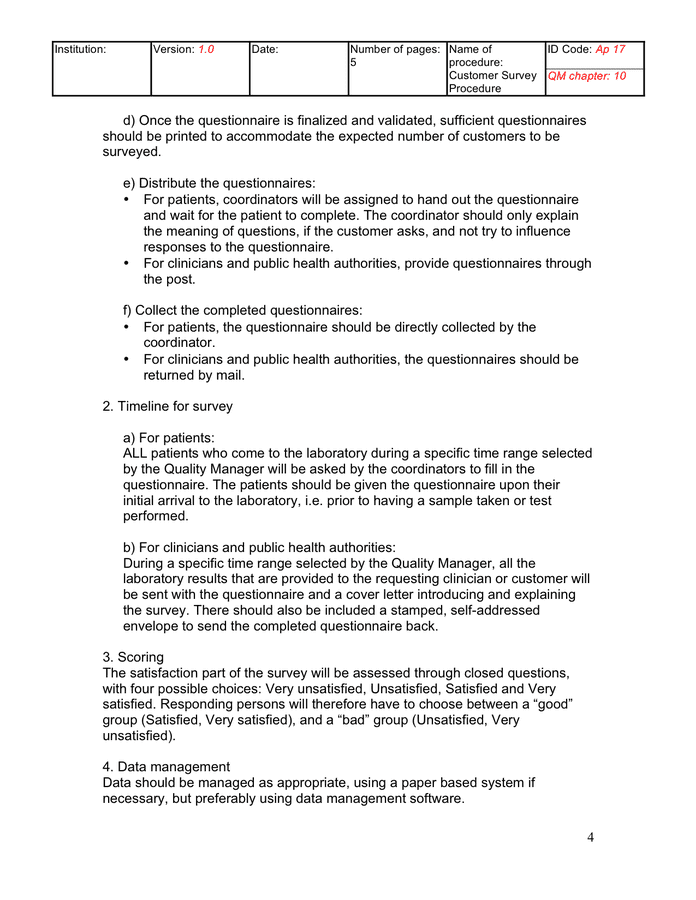 cover letter for questionnaire template
