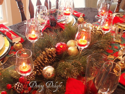 Dining Delight Black amp Red Christmas Table