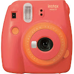 Fujifilm - Instax Mini 9 Instant Film Camera - Living Coral/Papaya