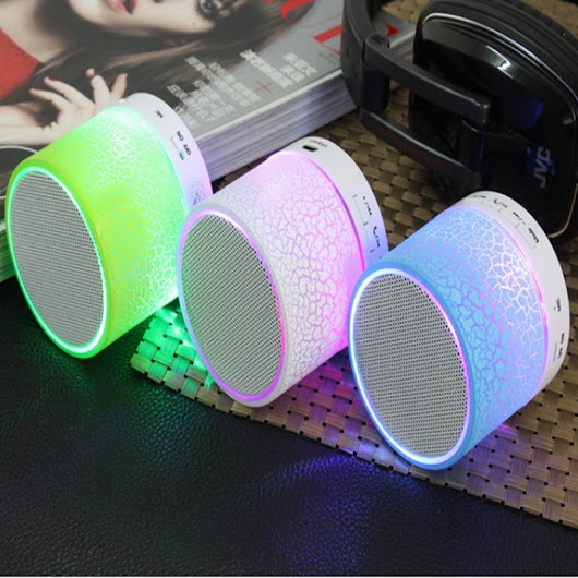 Aliexpress.com : Buy Portable Music Speaker LED Light  Bluetooth Speaker USB TF/SD Wireless Box Subwoofer Loudspeakers For PC Perfect Sound from Reliable speaker device suppliers on Zyker Store