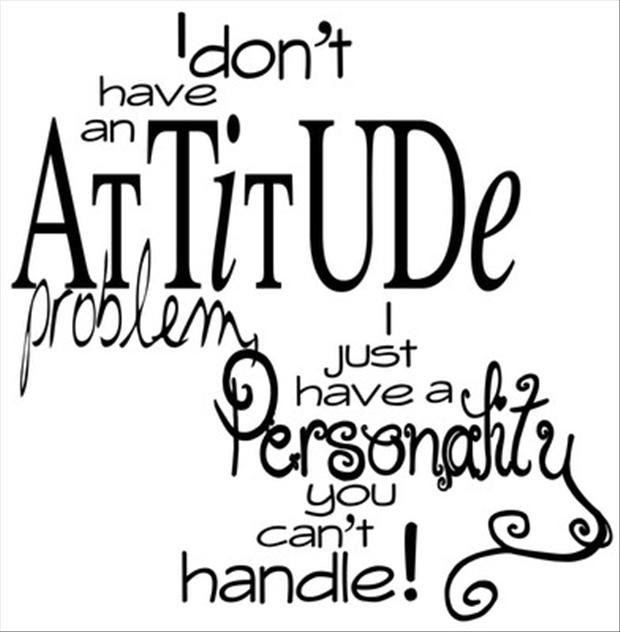 Funny Quotes I Do Not Have An Attitude Problem Dump A Day