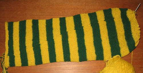 Ferdig strikket skjerf