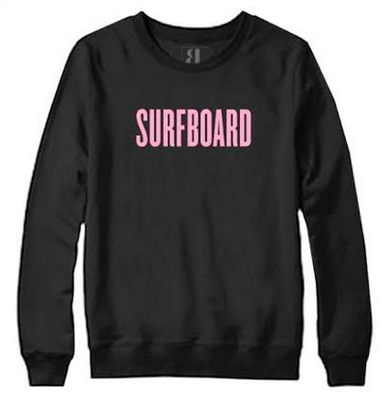 Beyonce-Surfboard-Pink-and-black-sweatshirt