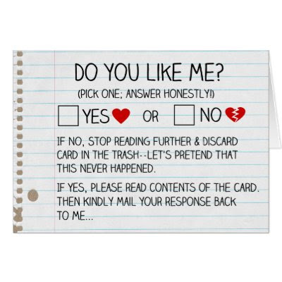 Do You Like Me? - Funny Valentine's Day Card