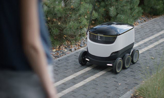 Skype co-founders reveal 'Starship' delivery robot