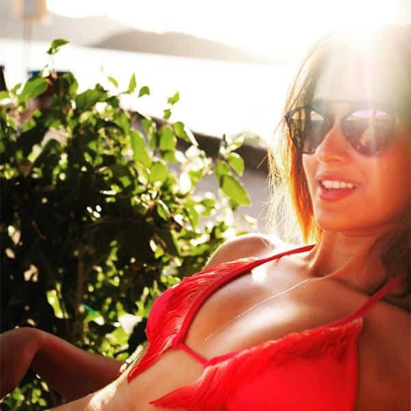Ileana D'cruz snapped in red bikini at beach