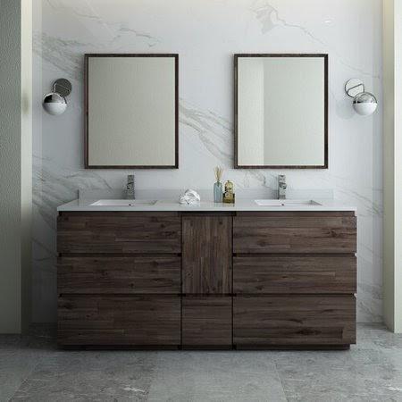 Cool Double Bathroom Vanity Dimensions Photos