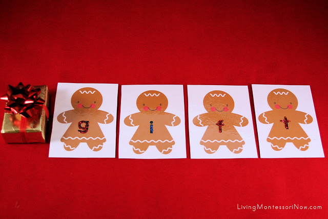 Gingerbread Babies Movable Alphabet Spelling
