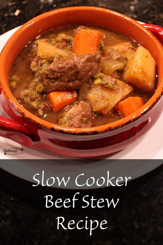 Slow Cooker Easy Beef Stew Recipe | Sabrina's Organizing