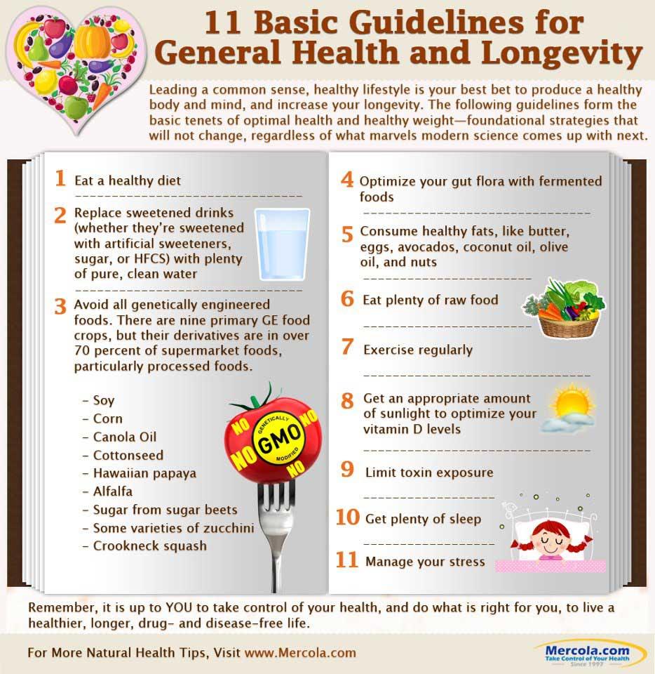 general health guidelines