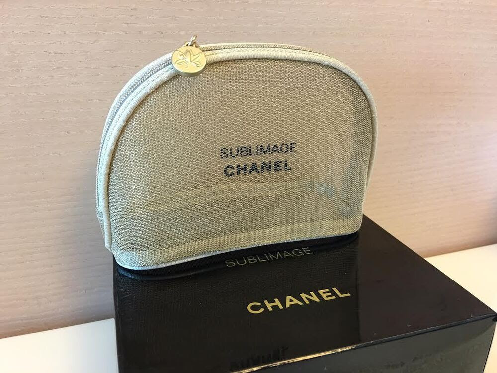 *New CHANEL BEAUTE Makeup Cosmetic Bag New in Box | eBay