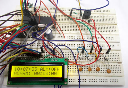 Digital Alarm Clock using AVR Microcontroller (ATmega32)