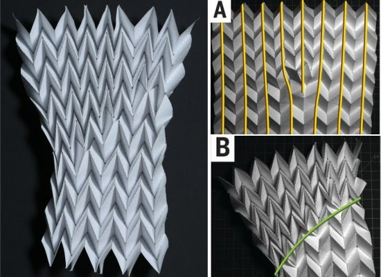 Materiais mecânicos programáveis feitos com origami