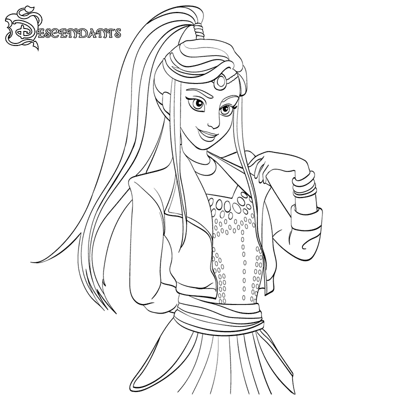 Top 10 Disney Descendants 2 Coloring Pages - Coloring Pages
