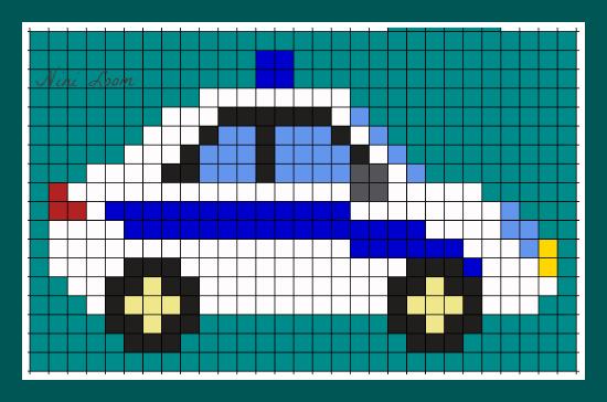 Pixel Art Camion De Pompier Bythatiblogspotcom