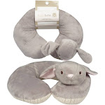 DDI 2345292 Kellybaby Bunny Baby Neck Pillow - Grey - Case of 24