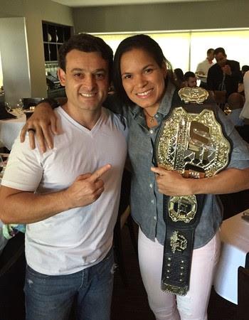 Everton e Amanda Nunes UFC 207 (Foto: Arquivo Pessoal)