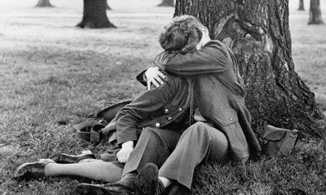 Couple Kissing in Hyde Park