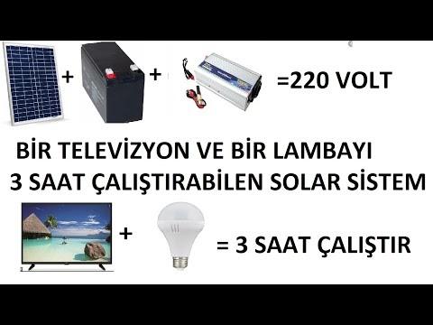 60 Watt güneş paneli ile elektrik üretmek ve hangi cihazlar çalıştırabilir. Solar enerji