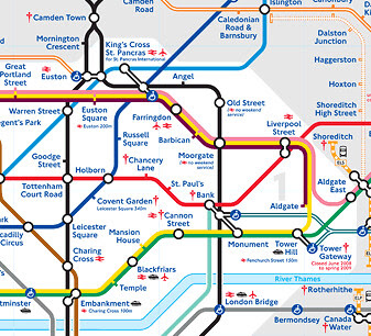 london tube map excerpt