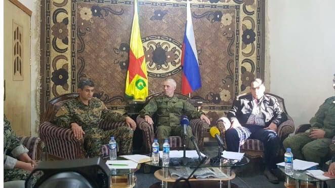 Les États-Unis prétendent croire que la Russie veut bombarder les YPG alors qu'en fait, ils ont coordonné l'opération...