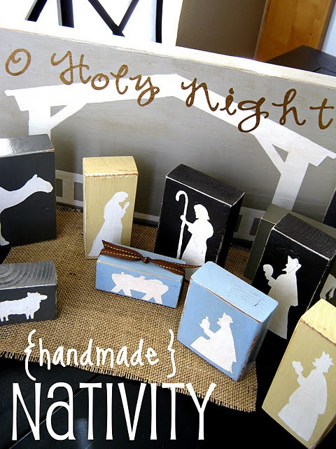 Block Nativity Set