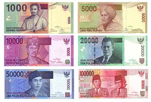 English: The Indonesian Rupiah (IDR) banknotes...