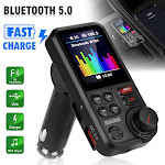 Car Bluetooth FM Transmitter Hands-Free Calling with USB Ports for Fast Charging