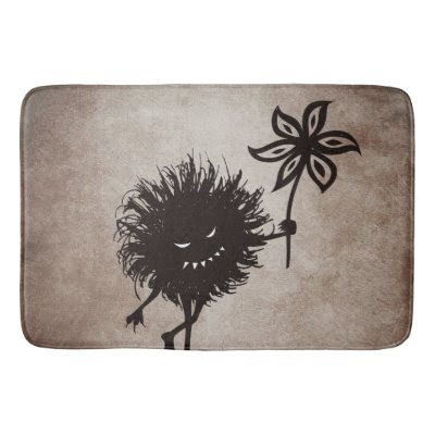 Evil Bug Gives Flower Vintage Bath Mats
