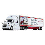 DCP DCP60-0587 Freightliner Cascadia With High-Roof Sleeper & 53 ft. Utility Trailer With Skirts