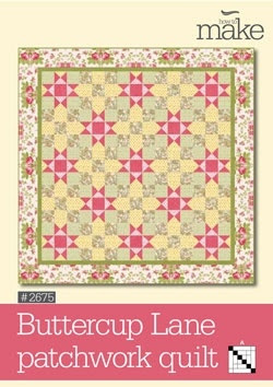 2 block quilt subtle design  EASY. Buttercup Lane Patchwork Quilt