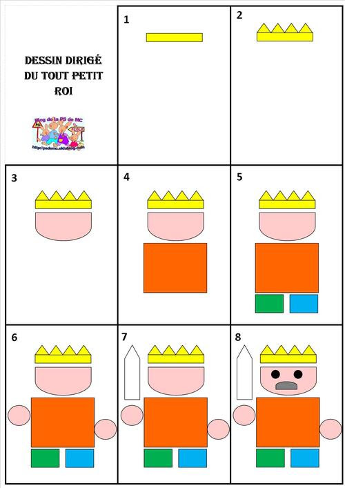 dessins dirigés le tout petit roi